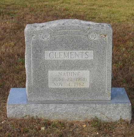 CLEMENTS, NADINE - Lawrence County, Arkansas | NADINE CLEMENTS - Arkansas Gravestone Photos