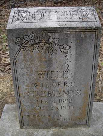 PICKETT CLEMENTS, WILLIE - Lawrence County, Arkansas | WILLIE PICKETT CLEMENTS - Arkansas Gravestone Photos