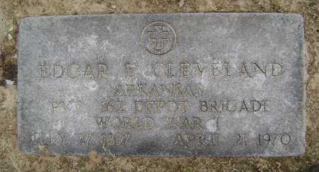 CLEVELAND  (VETERAN WWI), EDGAR E - Lawrence County, Arkansas | EDGAR E CLEVELAND  (VETERAN WWI) - Arkansas Gravestone Photos