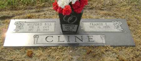 LINGO CLINE, FRANCO E. - Lawrence County, Arkansas   FRANCO E. LINGO CLINE - Arkansas Gravestone Photos