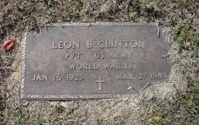 CLINTON (VETERAN WWII), LEON BROOKS - Lawrence County, Arkansas | LEON BROOKS CLINTON (VETERAN WWII) - Arkansas Gravestone Photos