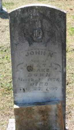 COAKE, JR., JOHN N. - Lawrence County, Arkansas | JOHN N. COAKE, JR. - Arkansas Gravestone Photos