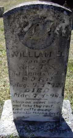 COAKE, WILLIAM J. - Lawrence County, Arkansas   WILLIAM J. COAKE - Arkansas Gravestone Photos