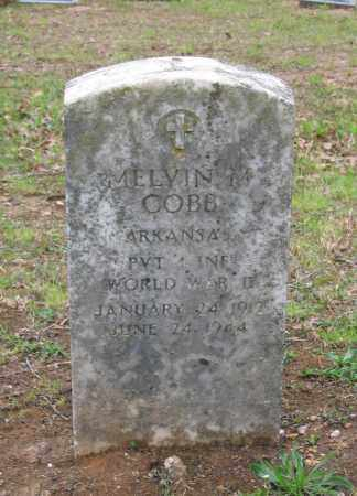 COBB (VETERAN WWII), MELVIN M - Lawrence County, Arkansas   MELVIN M COBB (VETERAN WWII) - Arkansas Gravestone Photos