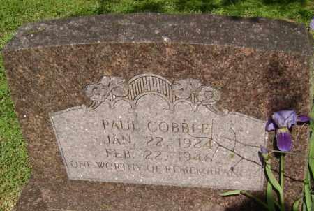 COBBLE, PAUL - Lawrence County, Arkansas   PAUL COBBLE - Arkansas Gravestone Photos