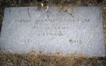 COCKRUM  (VETERAN VIET), JIMMIE WAYNE - Lawrence County, Arkansas | JIMMIE WAYNE COCKRUM  (VETERAN VIET) - Arkansas Gravestone Photos