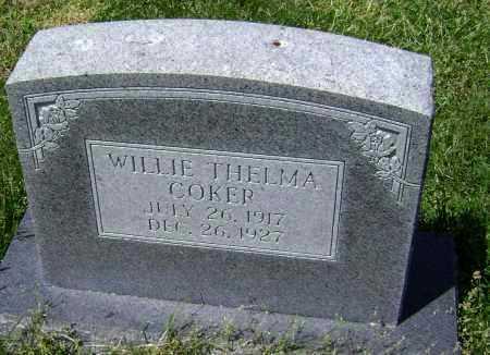 COKER, WILLIE THELMA - Lawrence County, Arkansas | WILLIE THELMA COKER - Arkansas Gravestone Photos