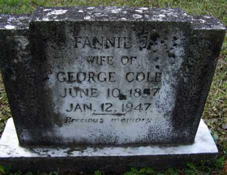 "COLE, FRANCES J. ""FANNY"" - Lawrence County, Arkansas | FRANCES J. ""FANNY"" COLE - Arkansas Gravestone Photos"