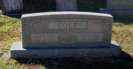 COLE, HENRY ESLIE - Lawrence County, Arkansas   HENRY ESLIE COLE - Arkansas Gravestone Photos