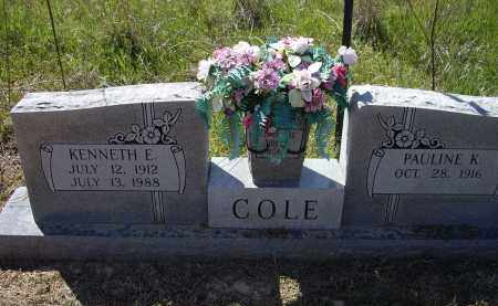 COLE, KENNETH ELTON - Lawrence County, Arkansas | KENNETH ELTON COLE - Arkansas Gravestone Photos
