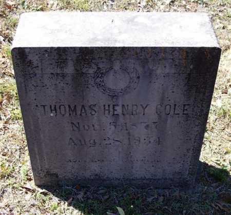 COLE, THOMAS HENRY - Lawrence County, Arkansas | THOMAS HENRY COLE - Arkansas Gravestone Photos