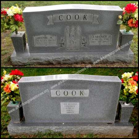 KINCADE COOK, ANNIE - Lawrence County, Arkansas | ANNIE KINCADE COOK - Arkansas Gravestone Photos