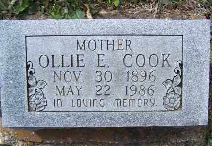 COOK, OLLIE E. - Lawrence County, Arkansas | OLLIE E. COOK - Arkansas Gravestone Photos