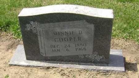 COOPER, MINNIE D. - Lawrence County, Arkansas   MINNIE D. COOPER - Arkansas Gravestone Photos