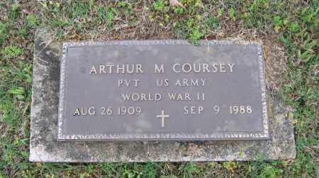 COURSEY (VETERAN WWII), ARTHUR MELTON - Lawrence County, Arkansas | ARTHUR MELTON COURSEY (VETERAN WWII) - Arkansas Gravestone Photos