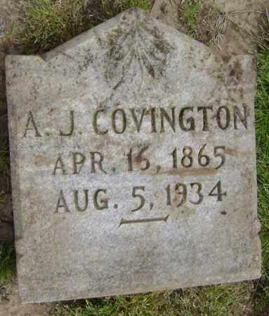 COVINGTON, A. J. - Lawrence County, Arkansas | A. J. COVINGTON - Arkansas Gravestone Photos
