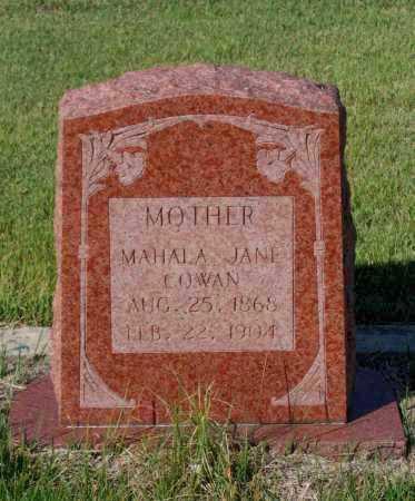 COWAN, MAHALA JANE - Lawrence County, Arkansas | MAHALA JANE COWAN - Arkansas Gravestone Photos