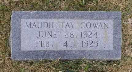 COWAN, MAUDIE FAY - Lawrence County, Arkansas   MAUDIE FAY COWAN - Arkansas Gravestone Photos
