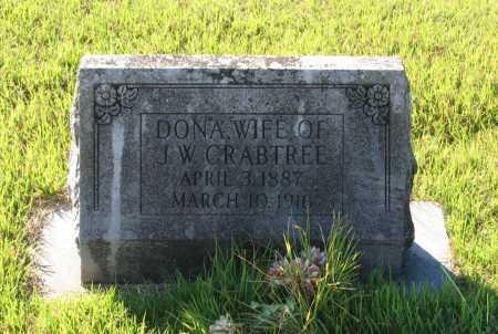 "JONES CRABTREE, LEONA C. ""DONA"" - Lawrence County, Arkansas | LEONA C. ""DONA"" JONES CRABTREE - Arkansas Gravestone Photos"