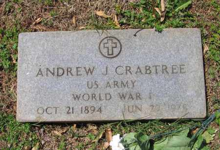 CRABTREE (VETERAN WWI), ANDREW J - Lawrence County, Arkansas | ANDREW J CRABTREE (VETERAN WWI) - Arkansas Gravestone Photos