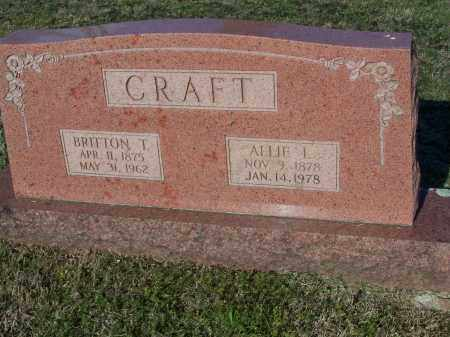 CRAFT, ALLIE L. - Lawrence County, Arkansas | ALLIE L. CRAFT - Arkansas Gravestone Photos