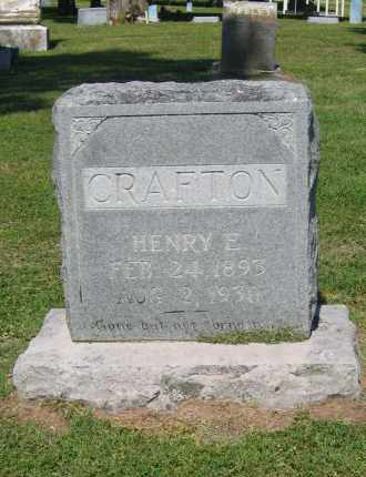 CRAFTON, HENRY EDGAR - Lawrence County, Arkansas | HENRY EDGAR CRAFTON - Arkansas Gravestone Photos