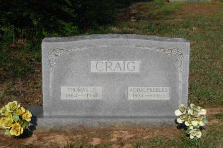 PEEBLES CRAIG, ADDIE - Lawrence County, Arkansas | ADDIE PEEBLES CRAIG - Arkansas Gravestone Photos