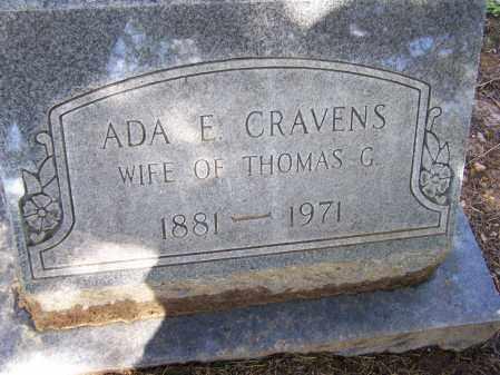 PARKS CRAVENS, ADA ELIZABETH - Lawrence County, Arkansas | ADA ELIZABETH PARKS CRAVENS - Arkansas Gravestone Photos