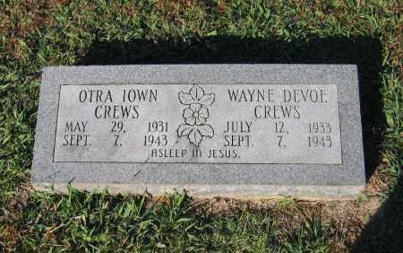 CREWS, OTRA IOWN - Lawrence County, Arkansas   OTRA IOWN CREWS - Arkansas Gravestone Photos