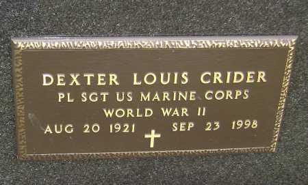 CRIDER  (VETERAN WWII), DEXTER LOUIS - Lawrence County, Arkansas | DEXTER LOUIS CRIDER  (VETERAN WWII) - Arkansas Gravestone Photos