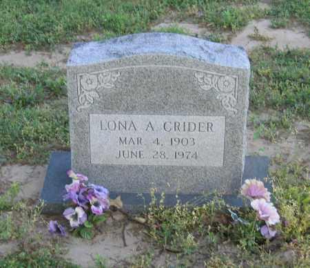 CRIDER, LONA A. - Lawrence County, Arkansas   LONA A. CRIDER - Arkansas Gravestone Photos