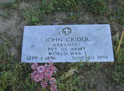 CRIDER (VETERAN WWI), JOHN - Lawrence County, Arkansas | JOHN CRIDER (VETERAN WWI) - Arkansas Gravestone Photos