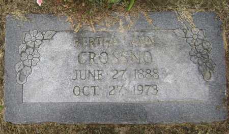 CROSSNO, BERTHA ANN - Lawrence County, Arkansas | BERTHA ANN CROSSNO - Arkansas Gravestone Photos
