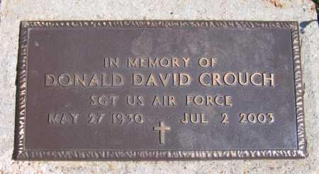 CROUCH (VETERAN), DONALD DAVID - Lawrence County, Arkansas | DONALD DAVID CROUCH (VETERAN) - Arkansas Gravestone Photos