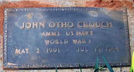 CROUCH (VETERAN WWI), JOHN OTHO - Lawrence County, Arkansas   JOHN OTHO CROUCH (VETERAN WWI) - Arkansas Gravestone Photos