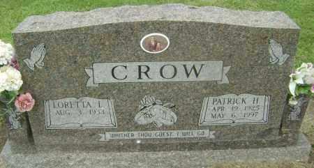 CROW, PATRICK HENRY - Lawrence County, Arkansas   PATRICK HENRY CROW - Arkansas Gravestone Photos