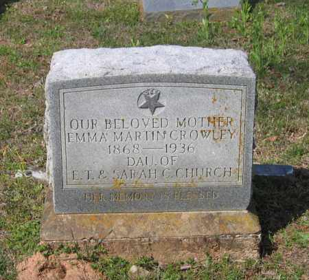 CROWLEY, EMMA MARTIN - Lawrence County, Arkansas | EMMA MARTIN CROWLEY - Arkansas Gravestone Photos