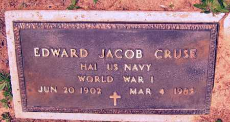 CRUSE (VETERAN WWI), EDWARD JACOB - Lawrence County, Arkansas   EDWARD JACOB CRUSE (VETERAN WWI) - Arkansas Gravestone Photos