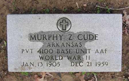 CUDE (VETERAN WWII), MURPHY Z - Lawrence County, Arkansas | MURPHY Z CUDE (VETERAN WWII) - Arkansas Gravestone Photos