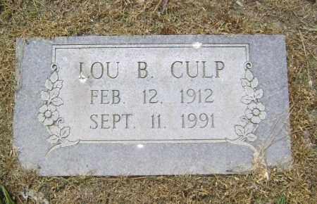 CULP, LOU B. - Lawrence County, Arkansas | LOU B. CULP - Arkansas Gravestone Photos