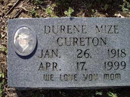 MIZE CURETON, DURENE NELIA - Lawrence County, Arkansas | DURENE NELIA MIZE CURETON - Arkansas Gravestone Photos