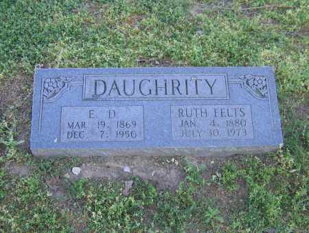 DAUGHRITY, E. D. - Lawrence County, Arkansas | E. D. DAUGHRITY - Arkansas Gravestone Photos