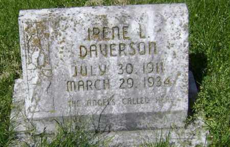 DAVERSON, IRENE L. - Lawrence County, Arkansas | IRENE L. DAVERSON - Arkansas Gravestone Photos