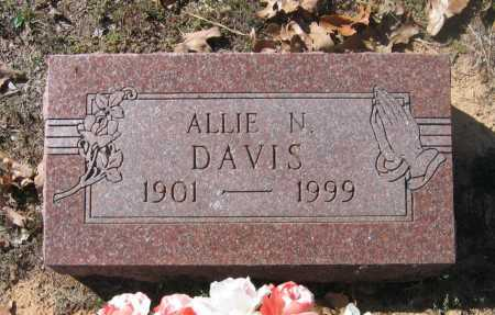 "NUNNALLY DAVIS, ALETHEA ETHEL ""ALLIE"" - Lawrence County, Arkansas 