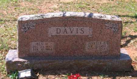 DAVIS, MYRTLE ETTA - Lawrence County, Arkansas   MYRTLE ETTA DAVIS - Arkansas Gravestone Photos
