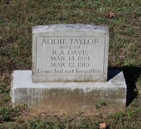 TAYLOR DAVIS, DELILAH ADDIE - Lawrence County, Arkansas | DELILAH ADDIE TAYLOR DAVIS - Arkansas Gravestone Photos