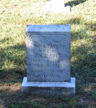 TAYLOR DAVIS, EMMA E. - Lawrence County, Arkansas | EMMA E. TAYLOR DAVIS - Arkansas Gravestone Photos