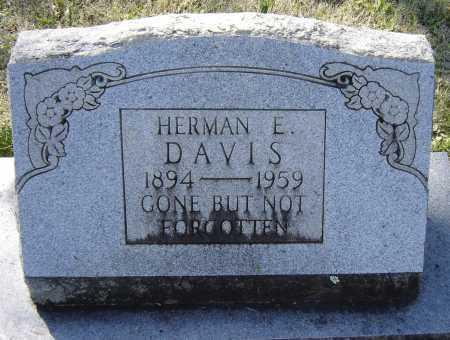 DAVIS, HERMAN E. - Lawrence County, Arkansas   HERMAN E. DAVIS - Arkansas Gravestone Photos