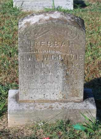DAVIS, IREBBA H. - Lawrence County, Arkansas   IREBBA H. DAVIS - Arkansas Gravestone Photos