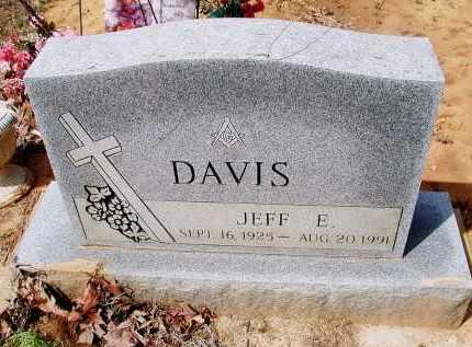 "DAVIS, JEFFERSON EUGENE ""JEFF"" - Lawrence County, Arkansas   JEFFERSON EUGENE ""JEFF"" DAVIS - Arkansas Gravestone Photos"